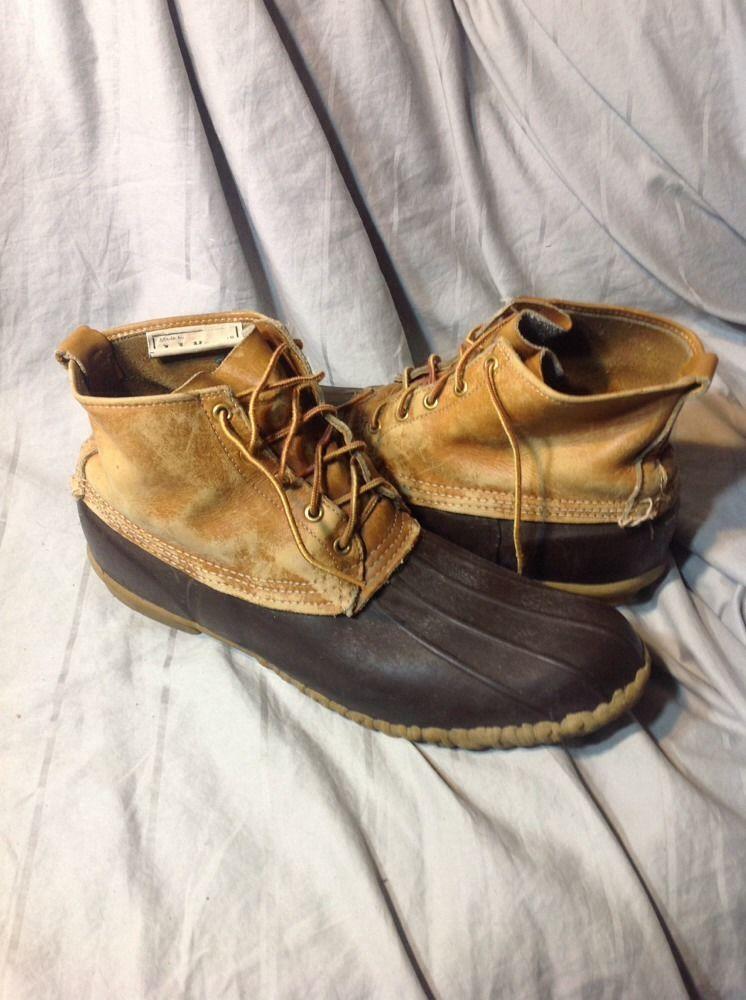 Mens Size 14 LL Bean Duck Boots 6