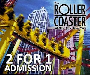 Coupons For The Roller Coaster At New York Hotel Las Vegas