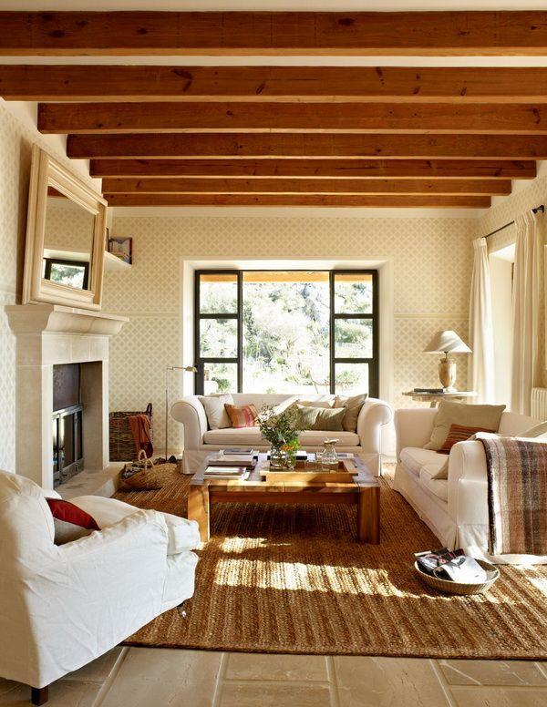 Sala de estar rusticas y casitas for Ideas para decorar una casa nueva