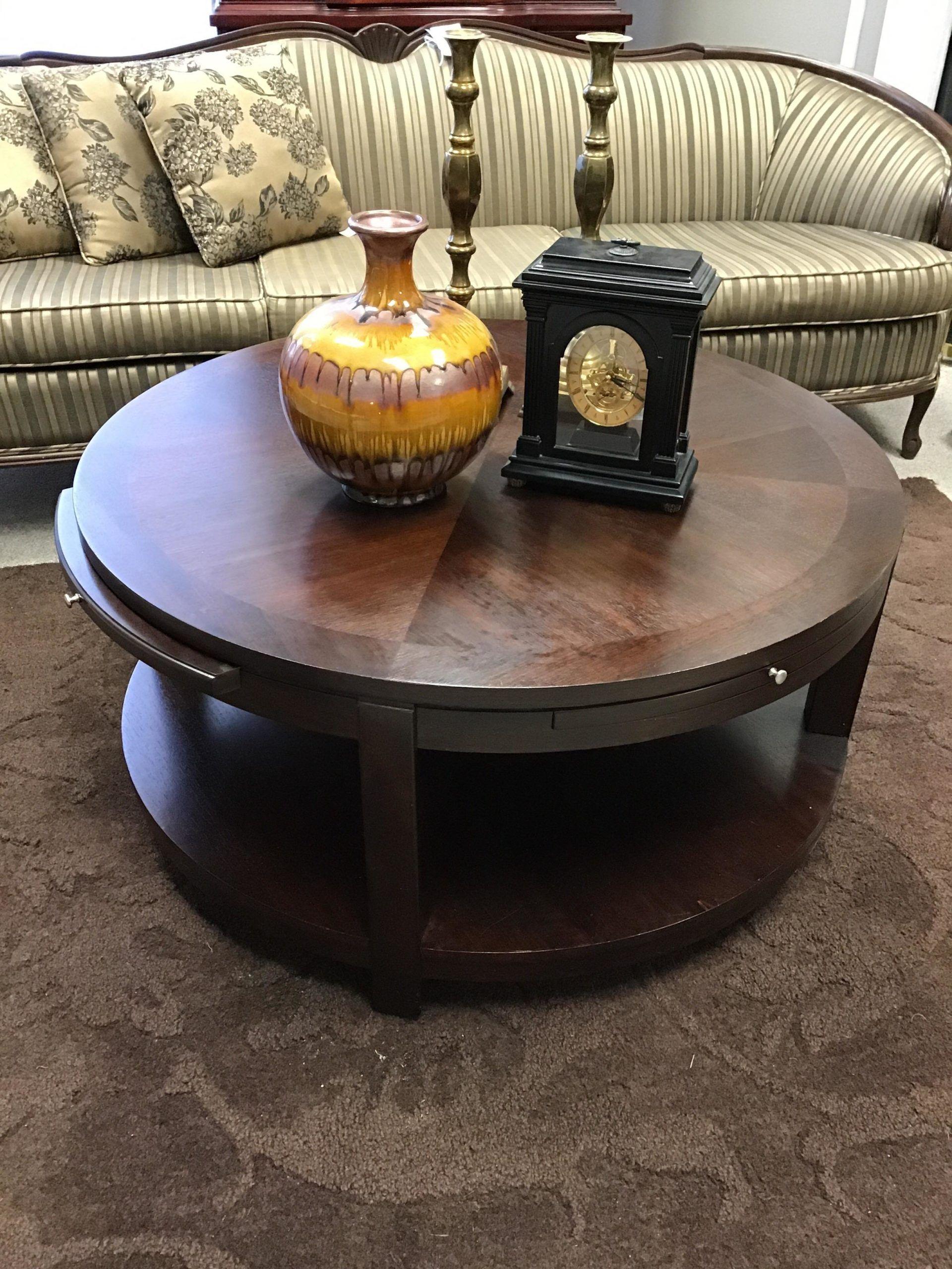 - Round Espresso Coffee Table The Millionaire's Daughter In 2020