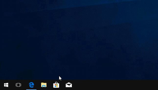 Selecting Microsoft Store from the taskbar on Windows 10