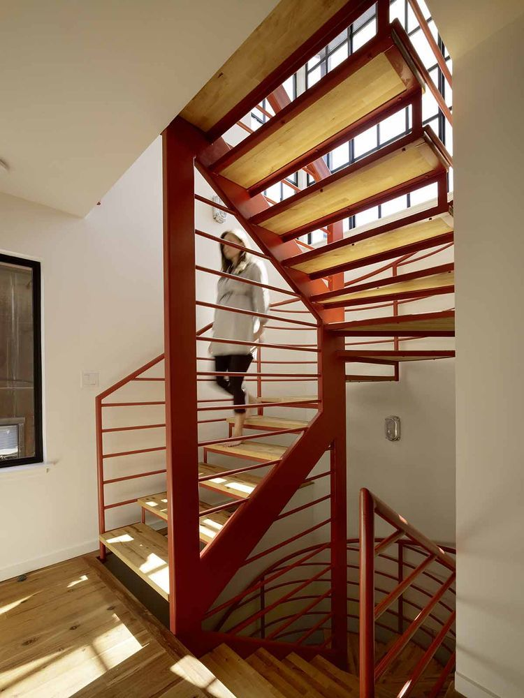 Like a Loft on Water Floating house, Modern staircase