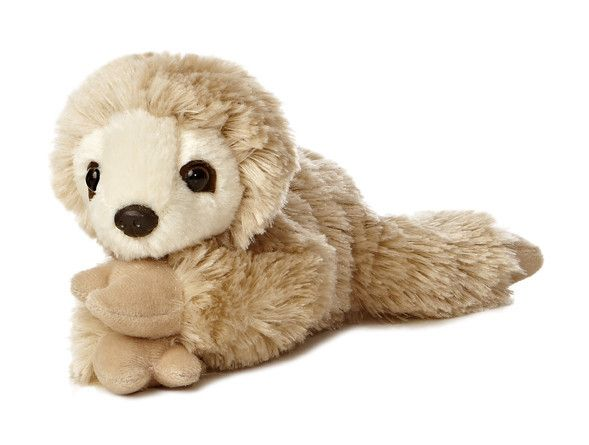 Can You Wash Stuffed Animals That Say Surface Wash Only Aurora Mini Flopsie Sloth The Animal Kingdom Plush Stuffed Animals Baby Sloth Sloth