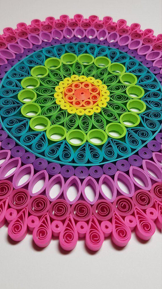 Papier Quilling Mandala 9 x 9