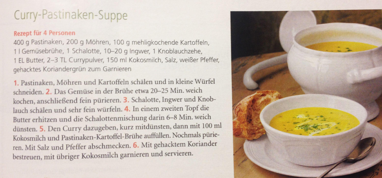 Trend Curry Pastinaken Suppe aus der Zeitschrift Mein sch ner Garten