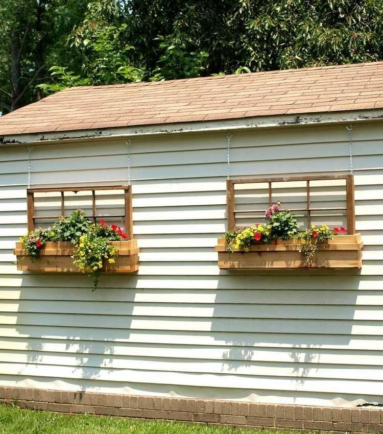 alte Fensterrahmen im Holz Blumenkasten | フレーム | Pinterest ...