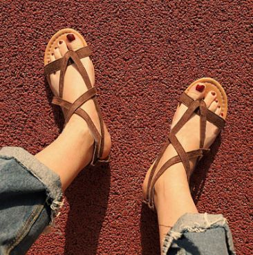 0ccf41750 Shop Casual Beach Rome Flat Summer Sandals Bohemian Women Shoes www.essish .com
