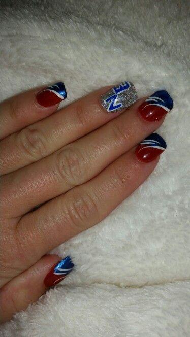 New England Patriots Nails Patriots Nail Art Football Nails Football Nail Art