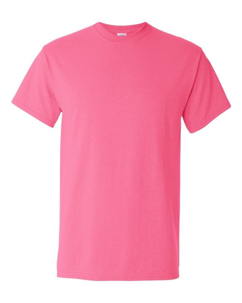 3 Plain Cotton Neon Safety Pink Fluorescent T Shirt up 3XL ...