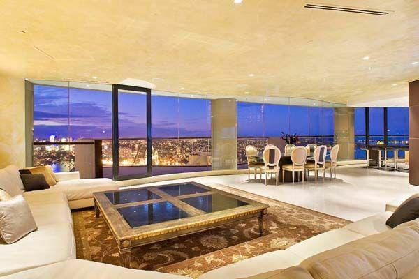 110 Luxus Wohnzimmer im Einklang der Mode   Große fenster, Luxus und ...