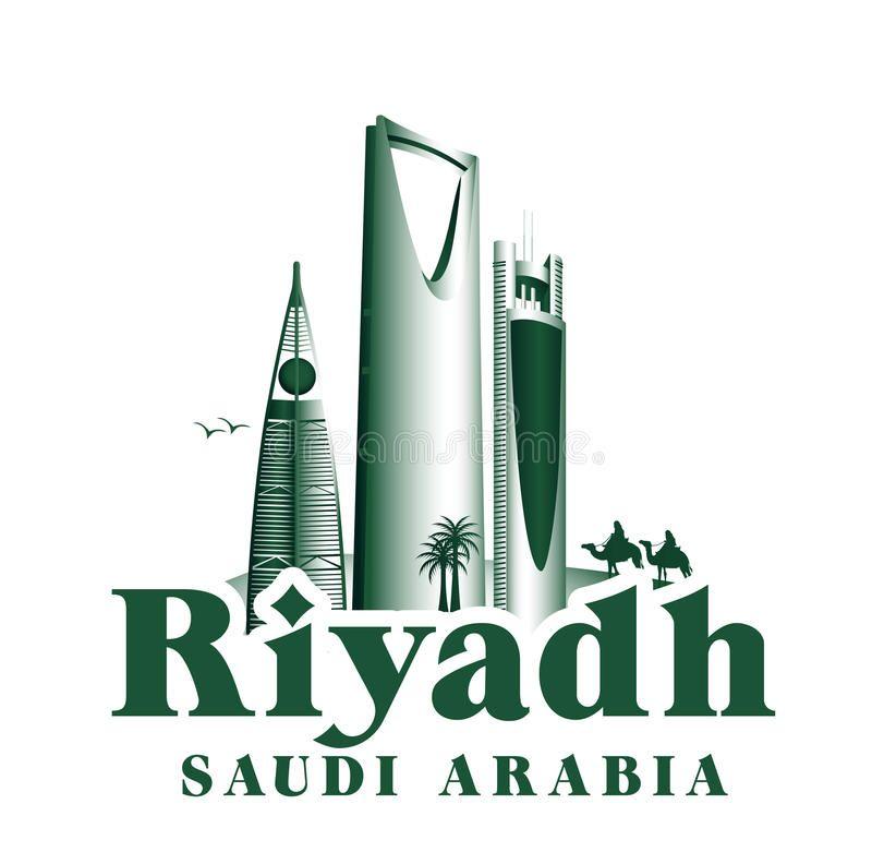 City Of Riyadh Saudi Arabia Famous Buildings Vector Illustration Riyadh Saudi Arabia Riyadh Saudi Arabia