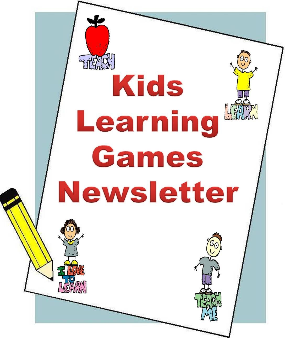 Kids Learning Games Newsletter