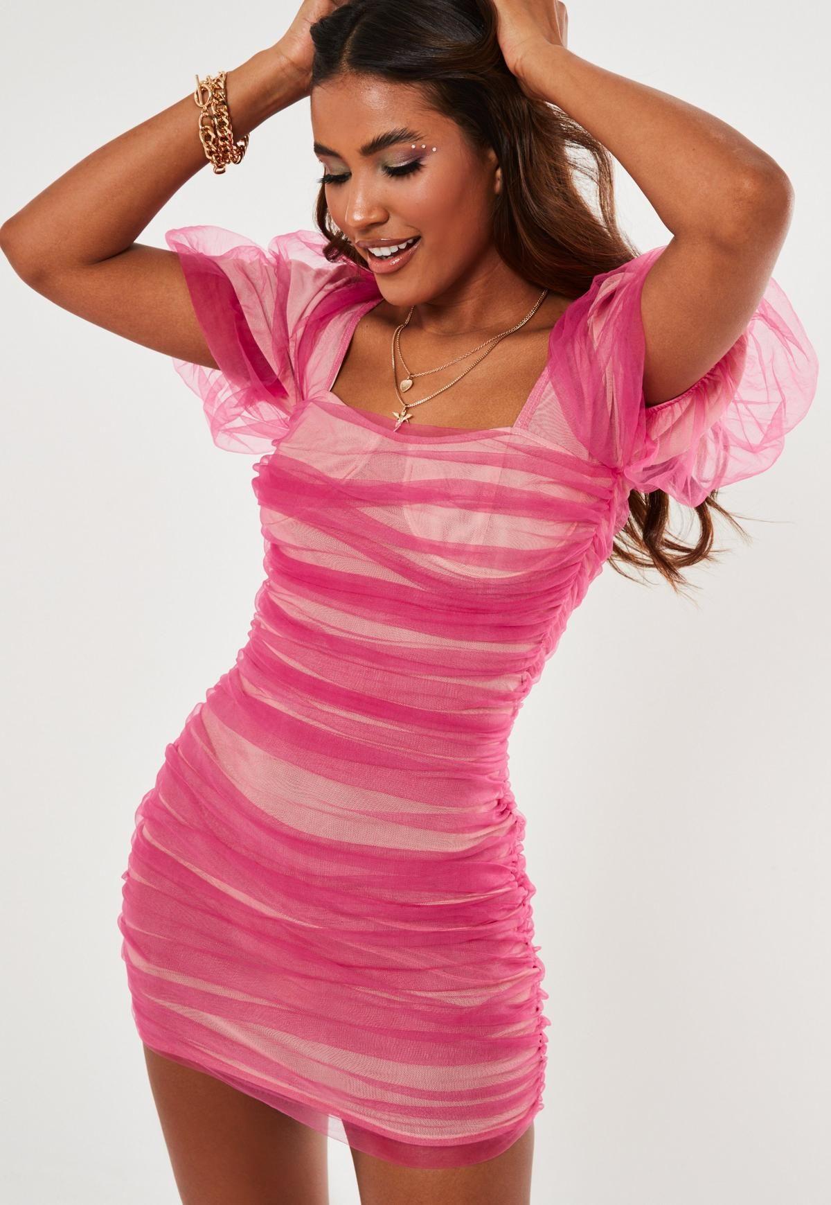 21++ Pink mesh dress ideas in 2021