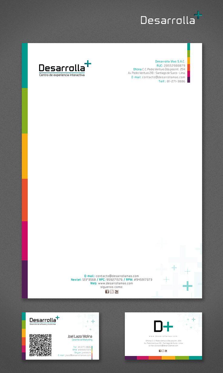 Membrete y tarjetas qr papeler a pinterest membrete for Software muebleria