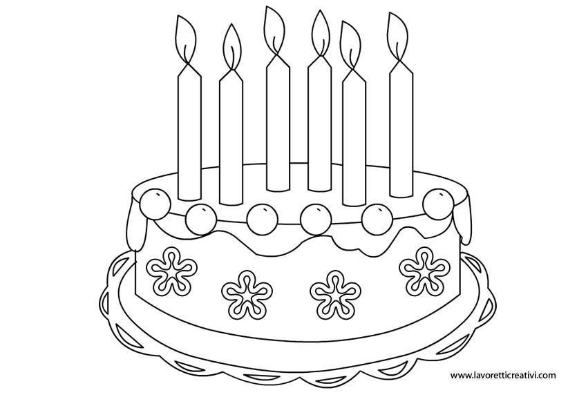 Torta Compleanno Stilizzata.Sagoma Torta1 Jpg 822 575 Torte Di Compleanno Torte Compleanno