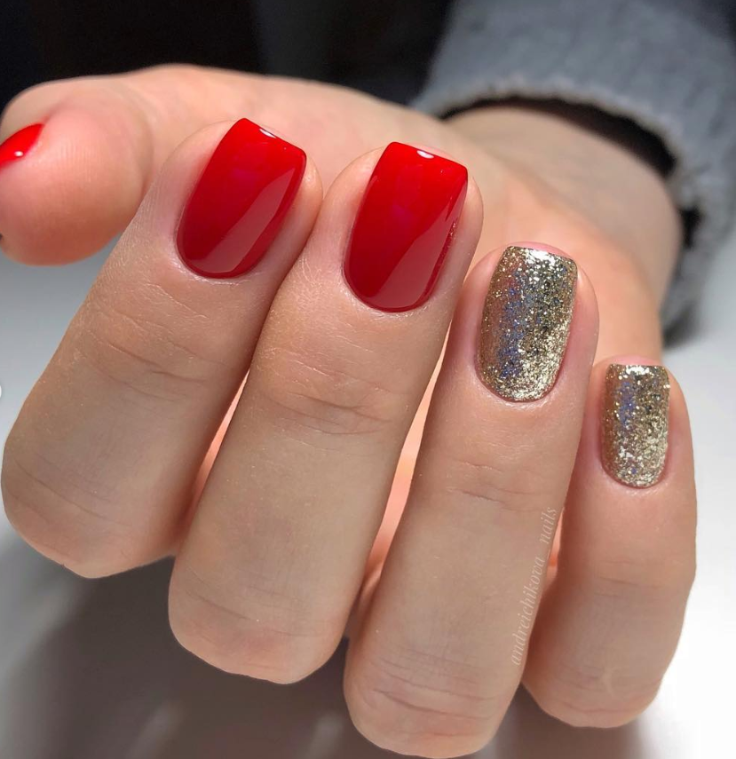 55 Chic Summer Short Square Nail Designs You Would Love To Try Monica Gallery Short Square Nails Square Nail Designs Red And Silver Nails
