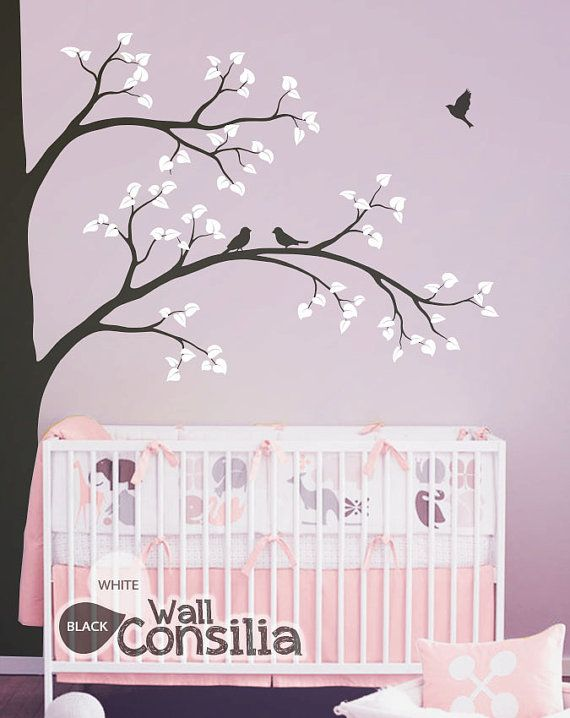 Large Tree Wall Decal Nursery Wall Decoration Corner Tree Wall
