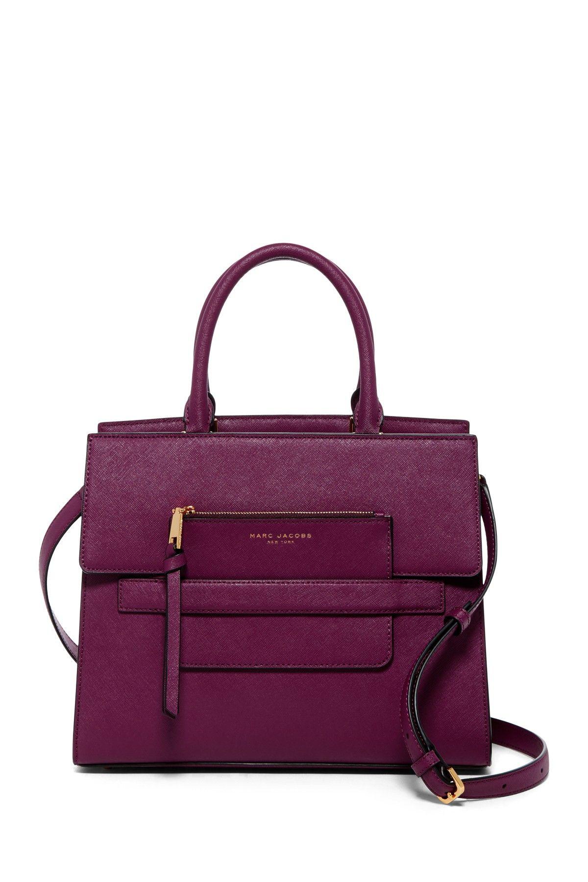 2dea85c5932b Madison Saffiano Leather Crossbody Bag   Pouch Purple Handbags