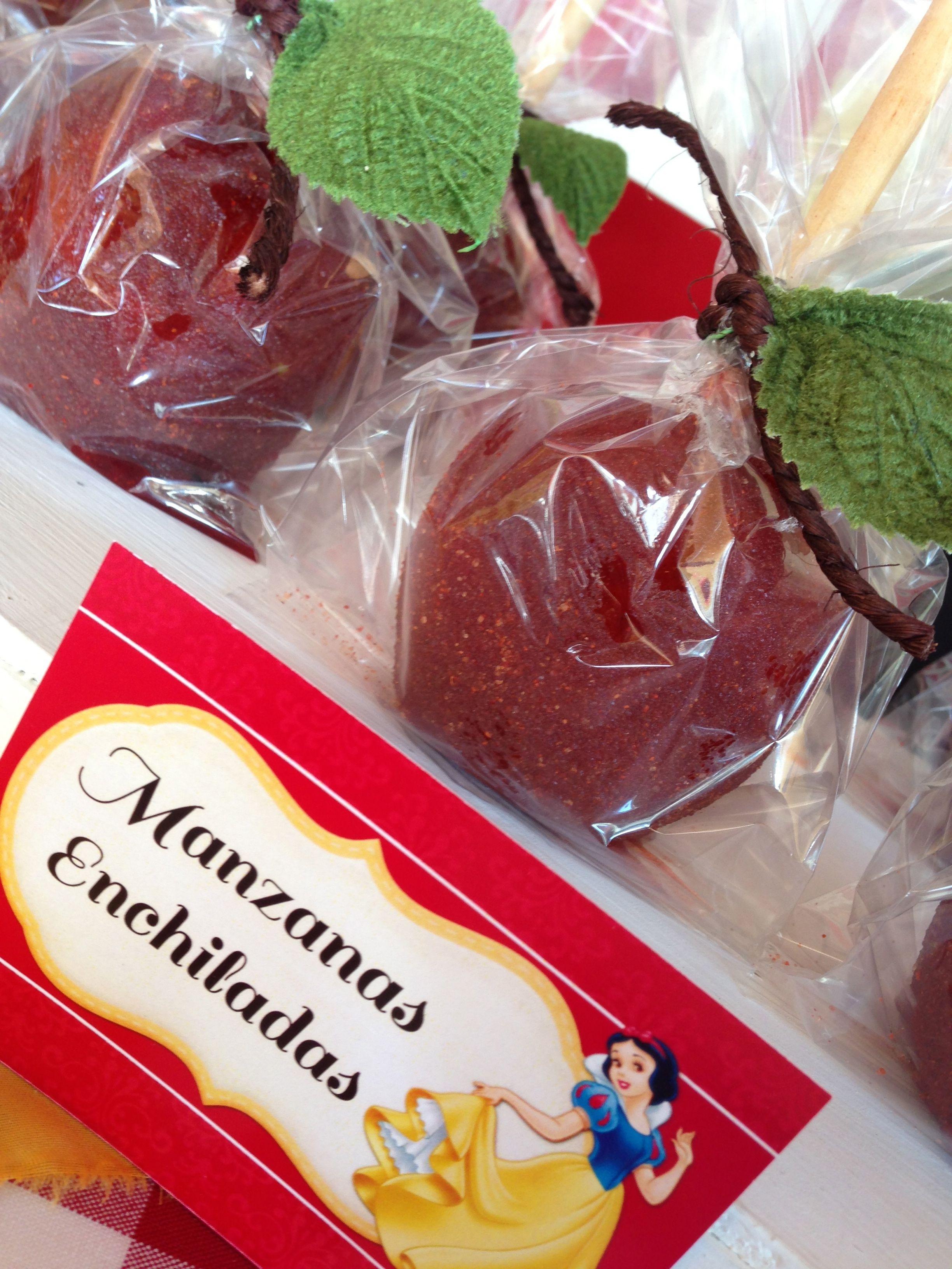 Snow White Party Manzanas Enchiladas Blanca Nieves