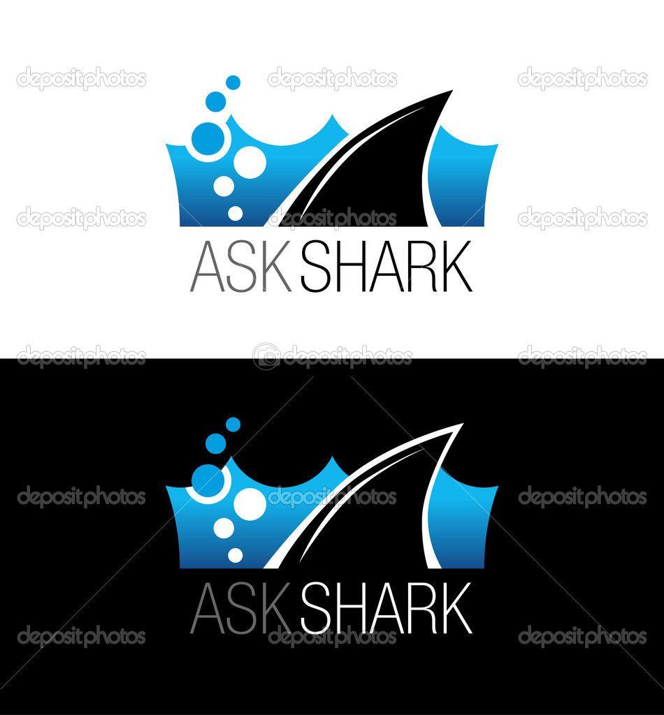 Logotipo de empresa de tiburón. Vector símbolo, signo, Ilustración ...