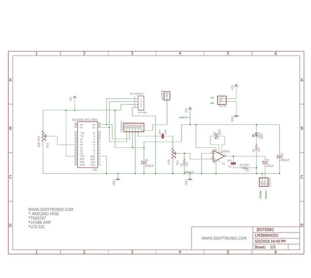 A Lot Of People Asked Me For The Schematic For The Radio I