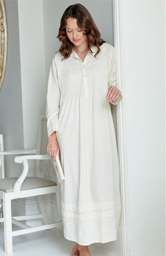 Alice Long Sleeve Nightdress -   Bonsoir  d861dd7a24