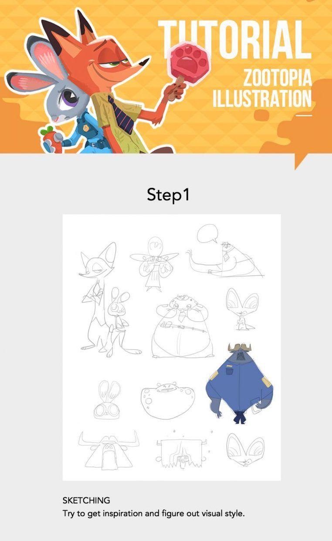 Drawing Tutorial Disney Fan Art Zootopia Drawing Guide