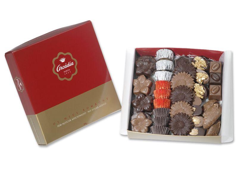 Com a Arcádia Casa do Chocolate também pode encontrar um sortido de bombons artesanais sem açúcar adicionado. Uma solução saudável, com o mesmo sabor de sempre.