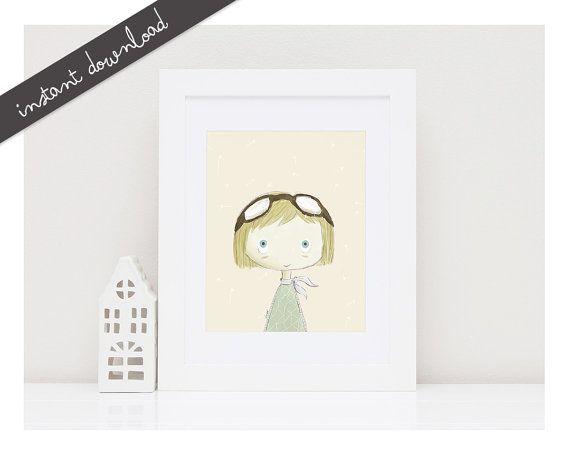 Printable Nursery Art''Amelia''Girls Room by LittleYellowDaisiess
