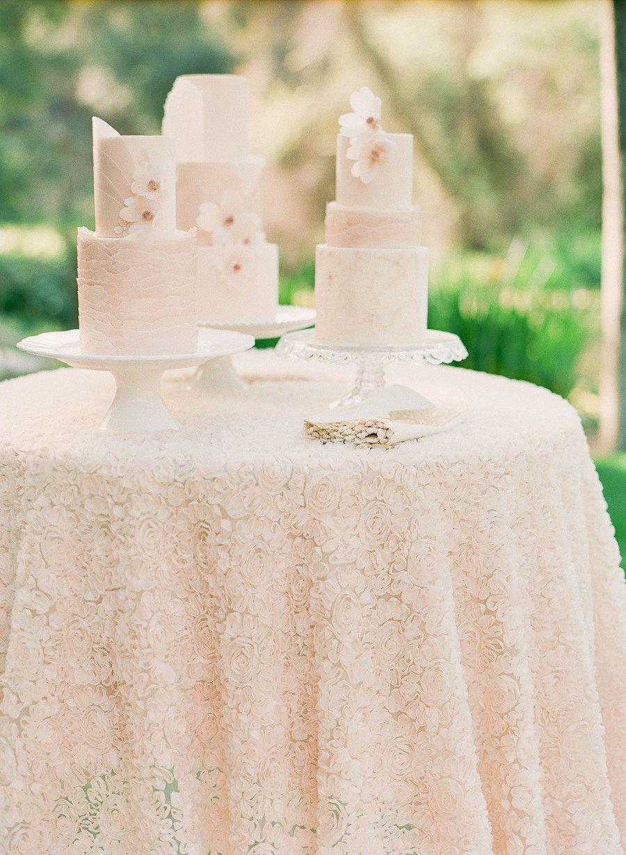 Wedding Rosette Chiffon Tablecloth | Wedding - Cake | Pinterest ...