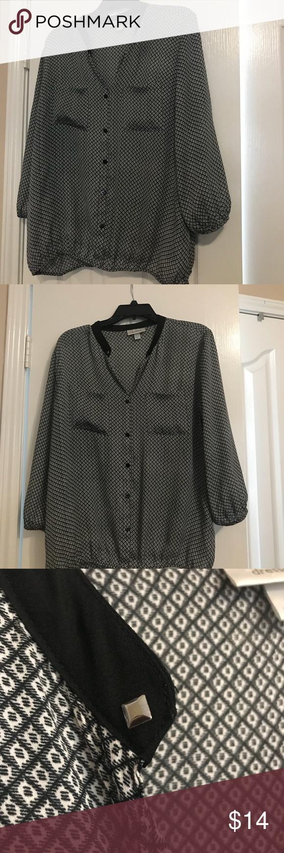 Dress Barn Black And White Top In 2018 My Posh Closet Pinterest
