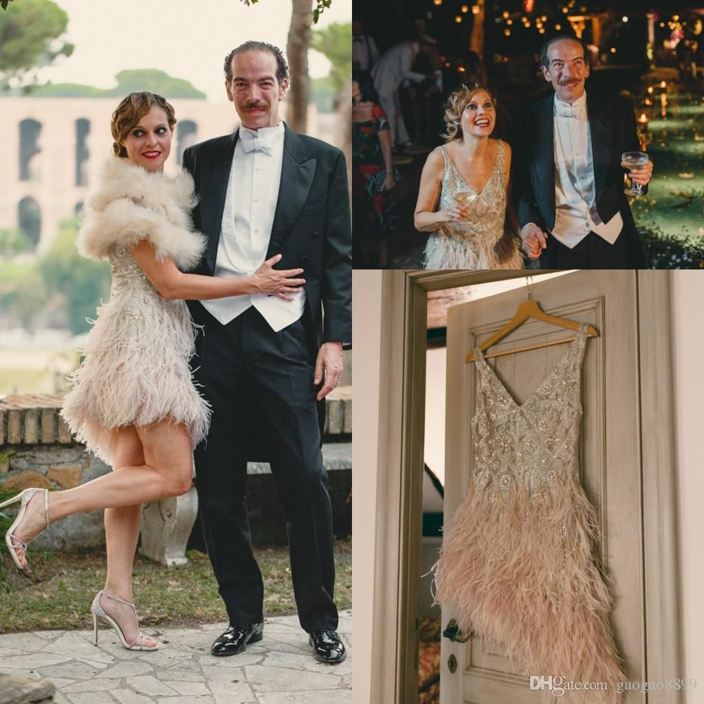 1920 S Vintage Great Gatsby Short Country Wedding Dresses