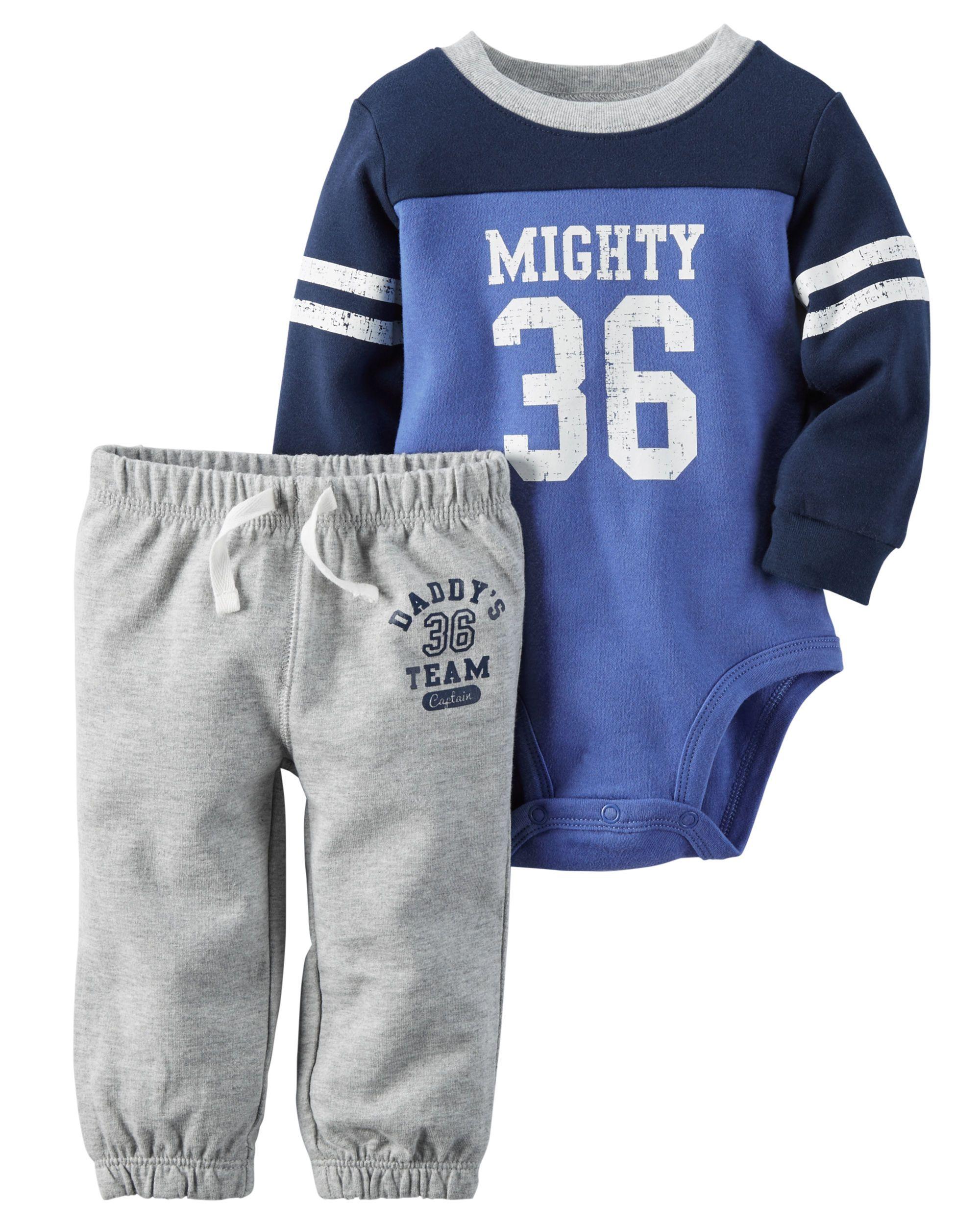 74eaf1dcc01f Baby Boy 2-Piece Bodysuit   Pant Set from Carters.com. Shop clothing ...