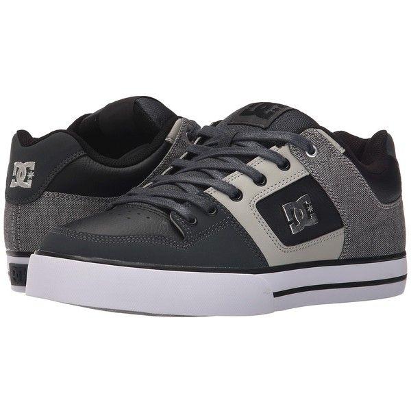 DC Pure SE (Grey/Black/Grey) Men's Skate Shoes ($63)