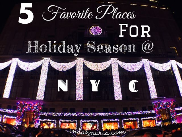 Such a merry and festive ambience we have here!   Holiday season is here and NYC, as aways, has its own unique, sparkly way to celeb...