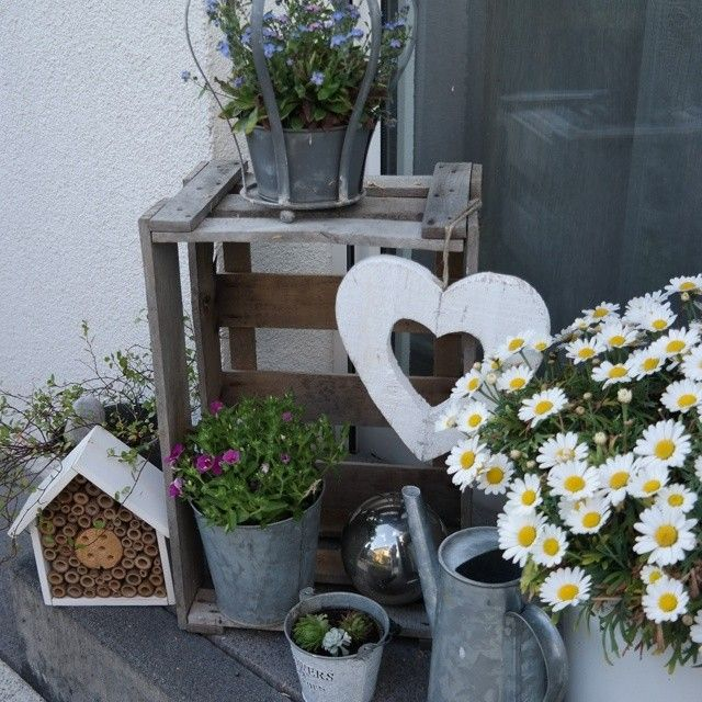 H bsche hauseingang garten dekoration outdoor ideas - Dekoration garten ...