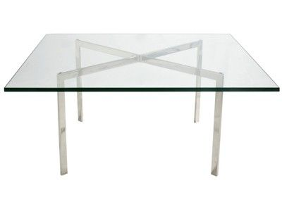 Barcelona Coffee Table By Mies Van Der Rohe 19mm Glass Replica