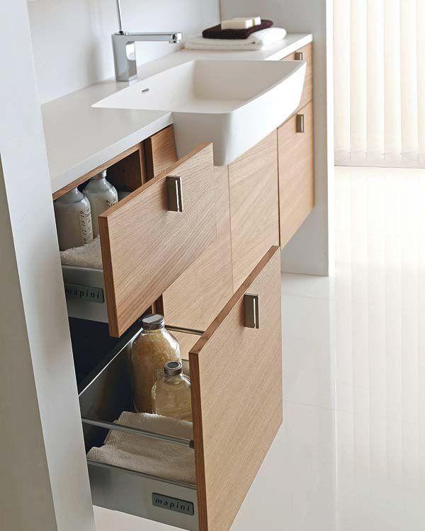 Muebles de lavabo e ideas para tener todo a mano ba os - Muebles para el lavabo ...