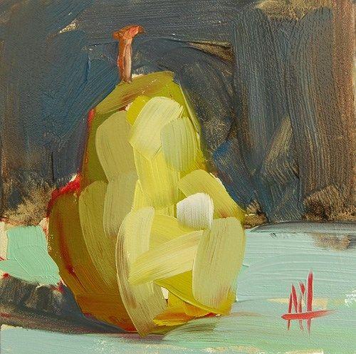 """Bartlett Pear no. 3 Painting"" - Angela Moulton"