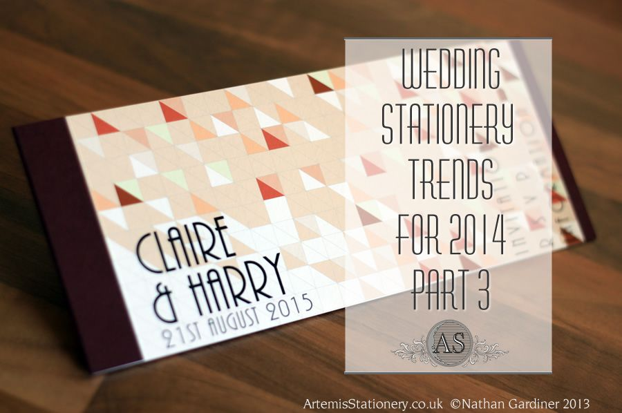 Wedding Stationery trends part 3