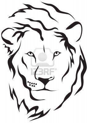 Oltre 1000 Idee Su Disegno Del Tatuaggio Del Lupo Su Pinterest Simple Lion Tattoo Lion Head Tattoos Tribal Lion Tattoo