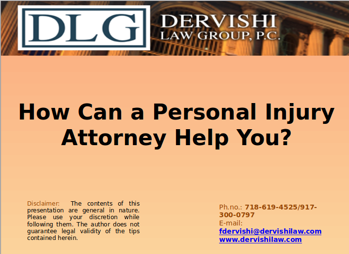 A Personal Injury Attorney Can Negotiate With The Insurance