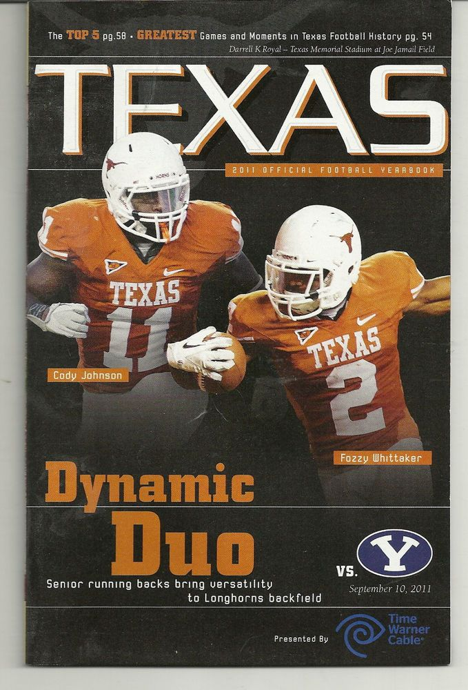 2011 Texas Longhorn Home Games Program Lot of 5