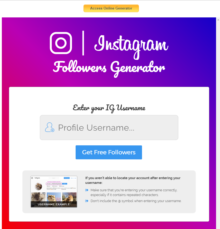 Instagram Followers Mod Apk 2019
