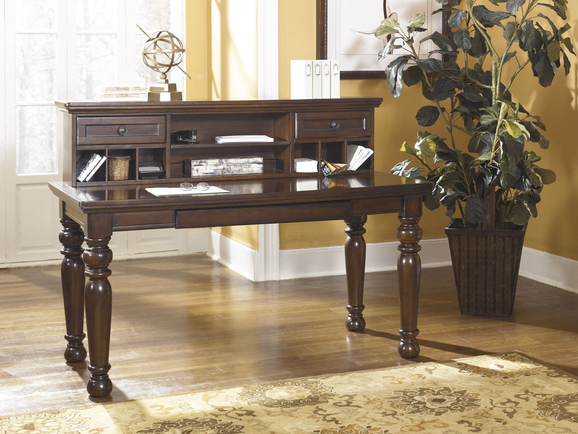 home office desk with hutch. H697-48 | Signature By Ashley Porter Home Office Short Desk Hutch Brown Big With