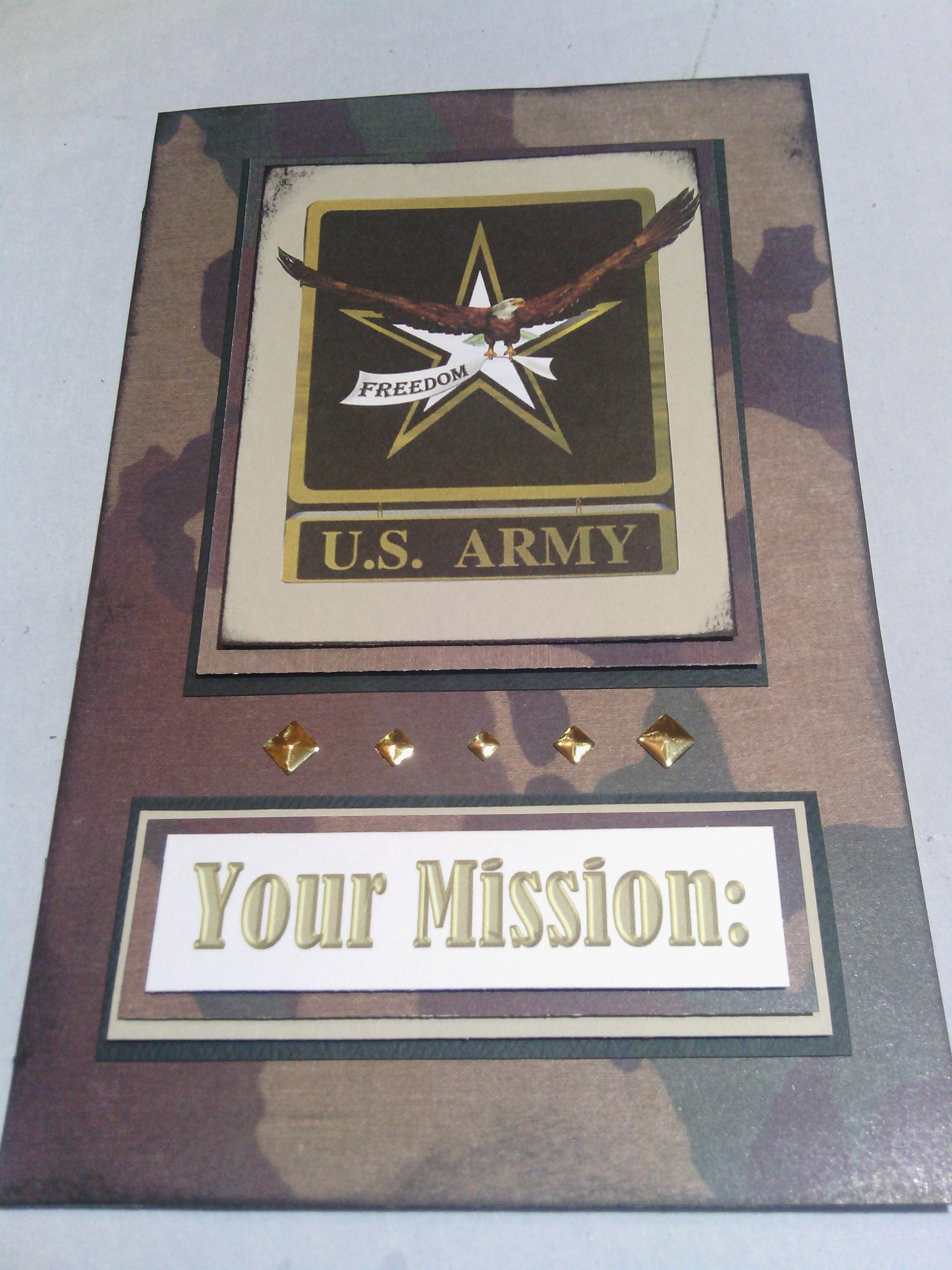 Handmade Greeting Card Your Mission Have A Great Birthday Army
