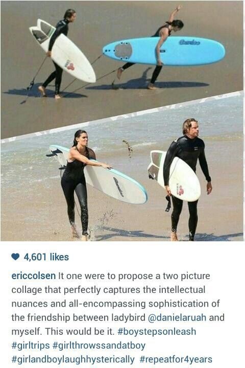 Eric Christian Olsen posted this photo an hour ago on Instagram NCIS LA surfing