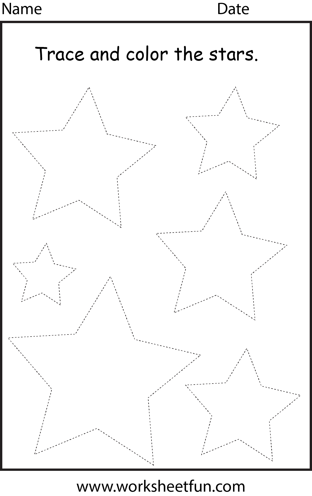 shapes star Shapes Pinterest Tracing worksheets Worksheets