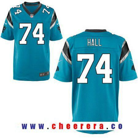 be92fb9e0 Men s 2017 NFL Draft Carolina Panthers  74 Daeshon Hall Light Blue  Alternate Stitched NFL Nike