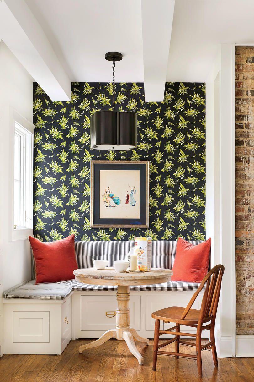 Beautiful Wallpaper Ideas Dining Room Nook Breakfast